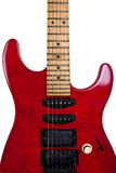 Red Old Guitar Stock Photos