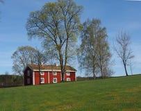 Red old house. Old building in Siggebohyttan, Bergslagen, Sweden Royalty Free Stock Photos