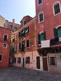 A red old house in Venice & x28;Venice, Italy& x29; Royalty Free Stock Images