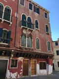 A red old house in Venice & x28;Venice, Italy& x29; Stock Photography