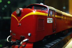 Red Old Locomotive Royalty Free Stock Photo
