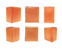 Red Old packaging cardboard Royalty Free Stock Photography