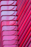 Red old  plastic chair Royalty Free Stock Images