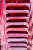 Red old  plastic chair Stock Photos