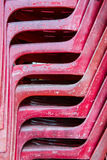Red old  plastic chair Royalty Free Stock Photography