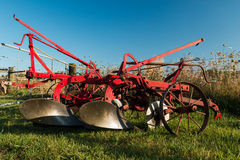 Red Old Plough Royalty Free Stock Image