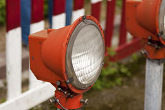 Red old street lamp Royalty Free Stock Image