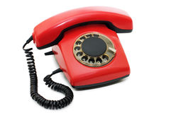 Red old telephone Stock Images