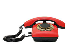 Red old telephone Royalty Free Stock Images
