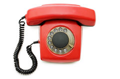 Red old telephone Royalty Free Stock Photography