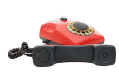 Red old telephone Royalty Free Stock Photos