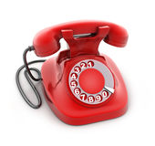 Red old telephone Royalty Free Stock Image