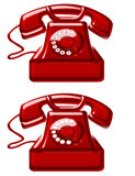 Red old telephones Royalty Free Stock Image