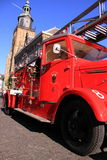 Red old timer fire truck Royalty Free Stock Photos
