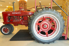 Red old tractor Stock Photos