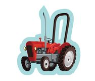 Red old tractor Stock Image