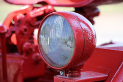 Red old tractor lamp Royalty Free Stock Images