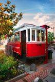 Red old tram Royalty Free Stock Image