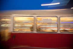 Red old trolley car in Vienna Stock Images