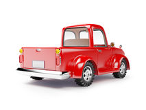 Red old truck back Royalty Free Stock Photo