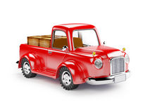 Red old truck loaded. Loaded red old truck  on white background Royalty Free Stock Images