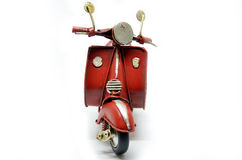 Red old vintage scooter Stock Image
