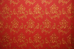 Red old wallpaper Royalty Free Stock Image