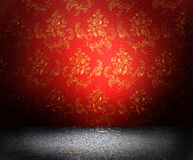 Red old wallpaper Royalty Free Stock Images