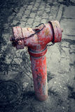 Red old water pump for fire hydrant Stock Photography