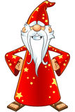 Red Old Wizard Character Stock Images