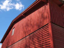 Red old wooden barn Royalty Free Stock Image