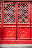 Red old wooden door Royalty Free Stock Image