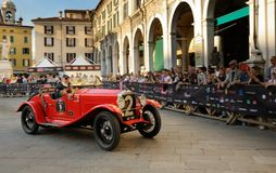 Red OM 655 Superba during 1000 Miglia Royalty Free Stock Images