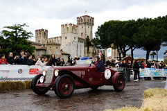 Red OM 665 Superba, 1929, in Sirmione Royalty Free Stock Photo