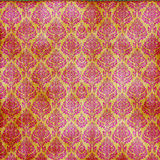 Red On Gold Damask Seamless Royalty Free Stock Image