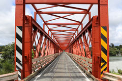 Red One Lane Bridge Stock Image