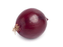 Red onion. On white background stock photo