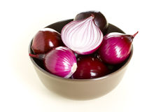 Red onion. Isolated on a white background Royalty Free Stock Photo