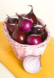 Red onion. Isolated on background Stock Images