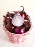 Red onion. Isolated on background Stock Image