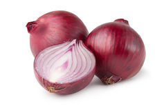Red onion. Isolated on white royalty free stock photo