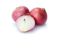 Red onion. Raw red onion  on white background with clipping path Stock Image