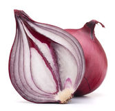 Red onion bulb half Stock Photos