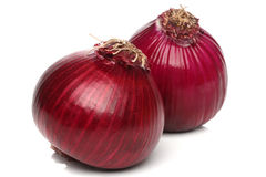 Red onion bulb isolated on white Stock Photography