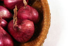 Red onion bulbs Royalty Free Stock Image