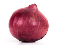 Red onion. Close-up on white background stock image