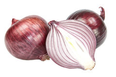 Red onion cut. Royalty Free Stock Photo