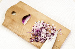 Red onion cut Stock Image