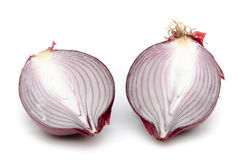 Red onion cut in half Stock Photography