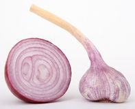 Red onion garlic Stock Photos